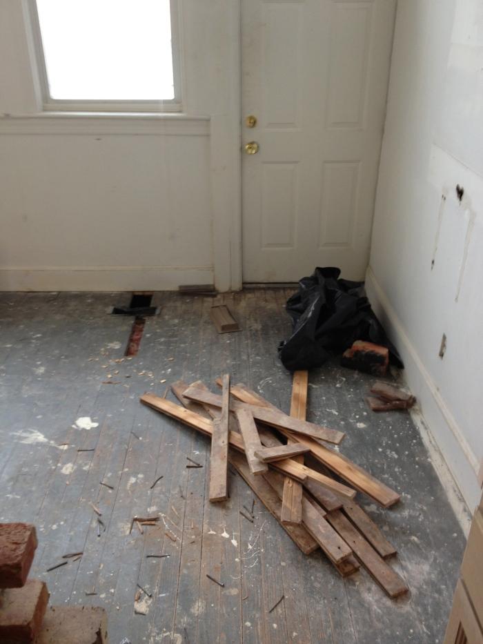 Floors being repaired