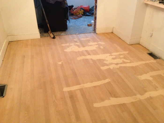 Repaired Dining Room Floor