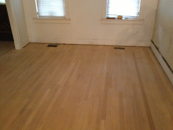 Sanded Living Room Floor