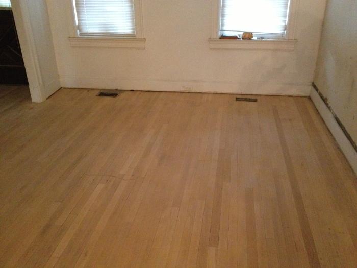 Sanded Living Room Floor
