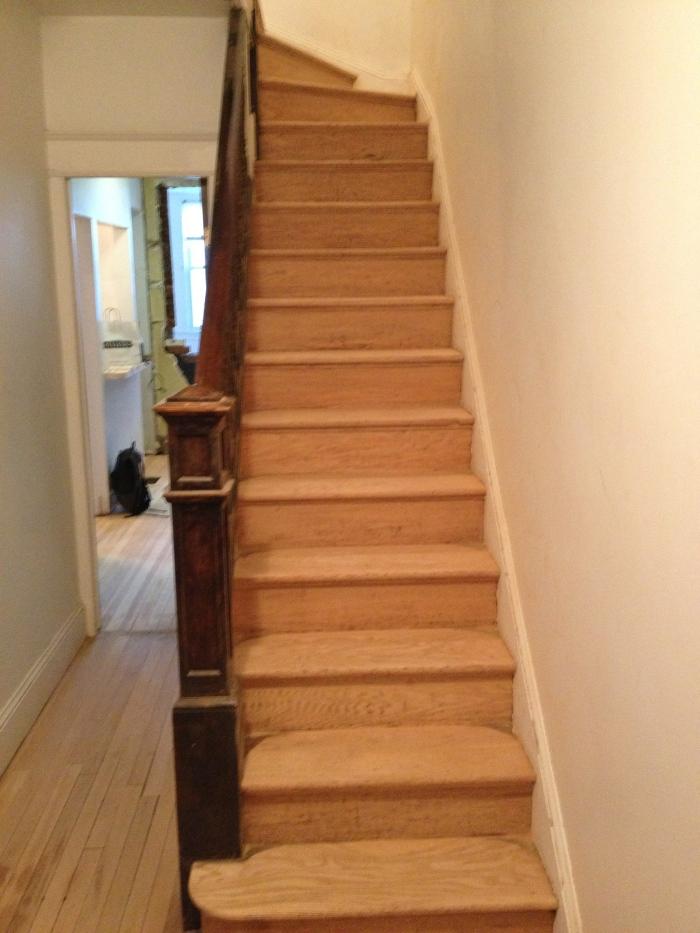 Sanded stairways