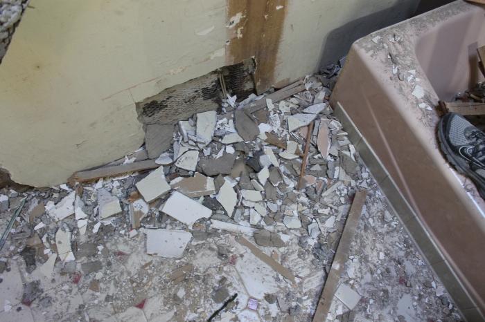 Plaster mess