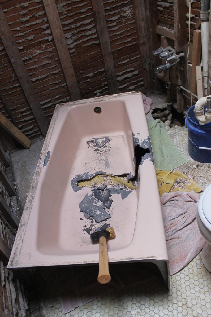 Smashing the tub