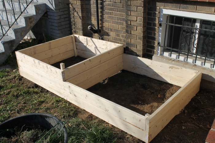 The finished raised garden bed