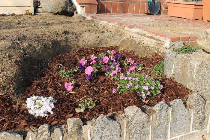 Landscaping the corner garden