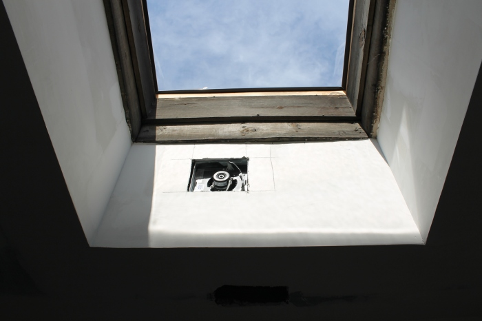 Skylight with bathroom fan