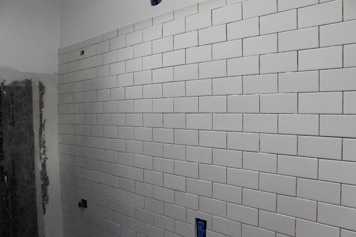First bathroom wall
