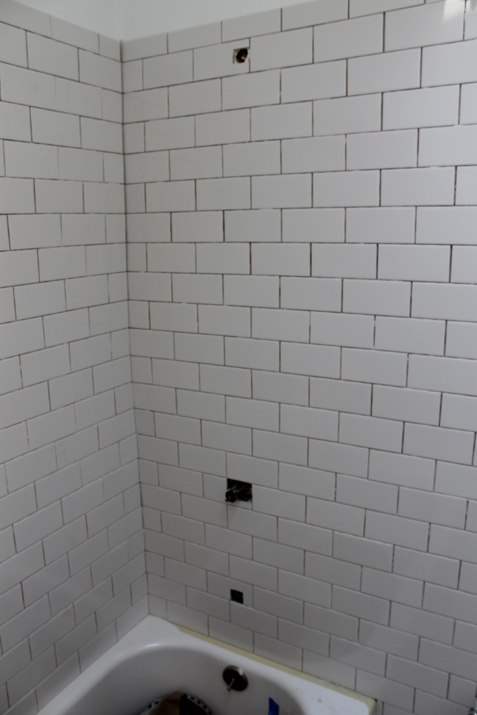 Finished shower tile