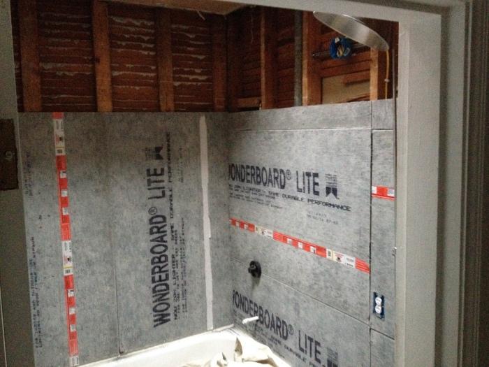 Cement Board in Bathroom