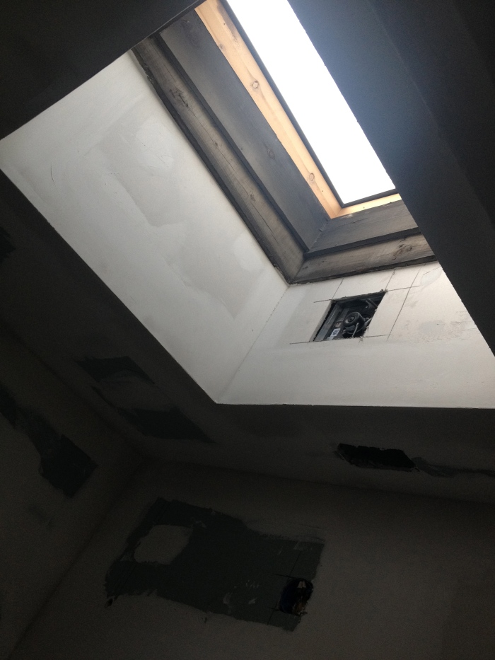 drywalled skylight
