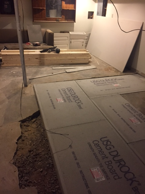 leveling the basement floor two boys a house